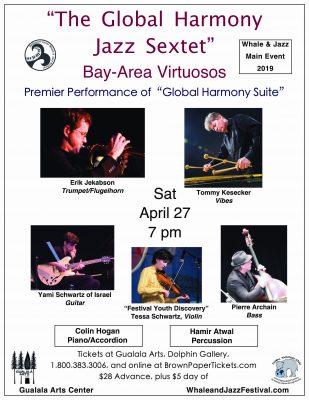 Gualala Arts presents The Global Harmony Jazz Sextet