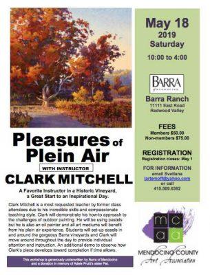 Pleasures of Plein Air with Clark Mitchell, Master Pastelist