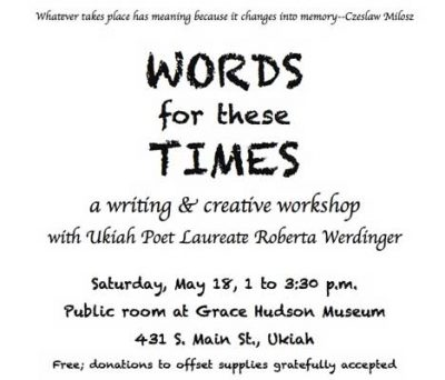 Words for These Times--a poetry workshop