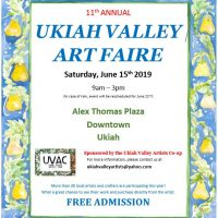 Vendors needed for the 11th Annual Ukiah Valley Art Fair
