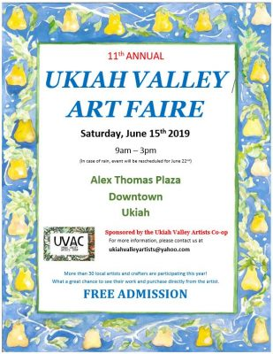 Vendors needed for the 11th Annual Ukiah Valley Ar...