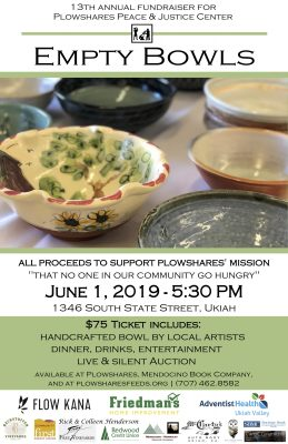 Plowshares Empty Bowls Fundraiser