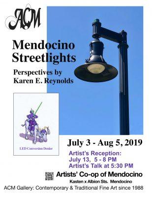 Mendocino Streetlights: Perspectives by Karen Reynolds