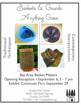 Baskets and Gourds. Anything Goes. Bay Area Basket Makers. Opening Reception.