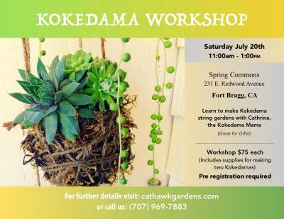 Kokedama String Garden Workshop