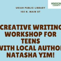 Creative Writing Workshop for Teens with Local Author Natasha Yim