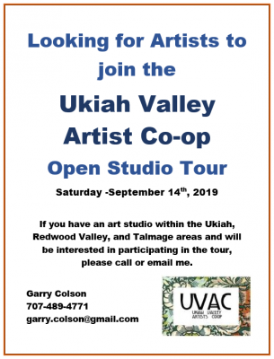 Looking for Artists to join the UVAC Open Studio T...
