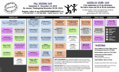 Register for SPACE Performing Arts Classes