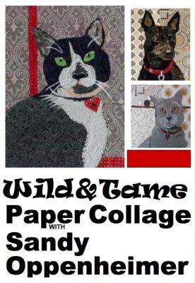 Wild & Tame Paper Collage Sandy Oppenheimer