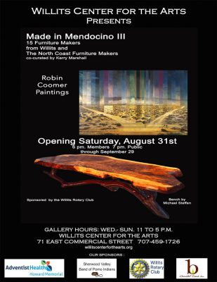 The Willits Center for The Arts Presents: Made In Mendo III & Robin Coomer Paintings