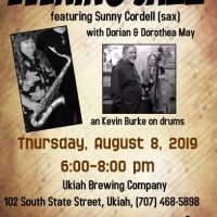 Dorian May Trio with Sunny Cordell at the Ukiah Brewing Co.