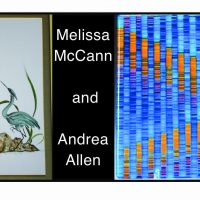 Melissa McCann's Fused Glass, Andrea Allen's Chinese Brush Painting