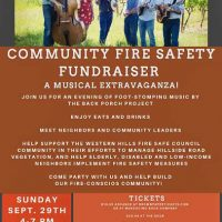 Festive Fundraiser for Western Hills Fire Safe Council