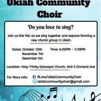 The Ukiah Community Choir seeking new members