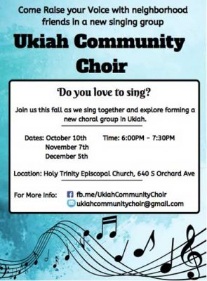 The Ukiah Community Choir seeking new members