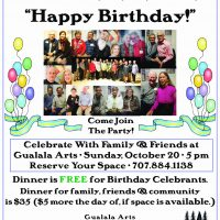 70th+ Birthday Celebration at Gualala Arts