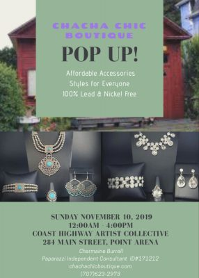 Pop Up with Charmaine Burrell Paparazzi Jewelry at the Coast Highway Art Collective