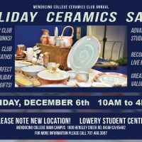 Mendocino College Holiday Ceramics Sale
