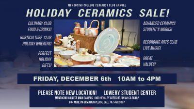Mendocino College Holiday Ceramics Sale
