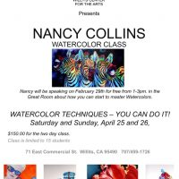 Nancy Collins Watercolor Techniques Free Artist Talk (2/29)