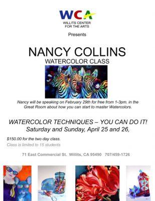 Nancy Collins Watercolor Techniques Free Artist Ta...
