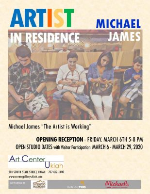 """Michael James: The Artist Is Working"""