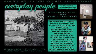 Mendocino College Art Gallery Welcomes Artist Manuel Fernando Rios' Exhibit Everyday People