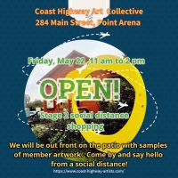 Coast Highway Art Collective stage 2 social distance shopping Friday, May 22,20