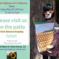 Coast Highway Art Collective stage 2 social distance shopping Friday, May 29, 2020