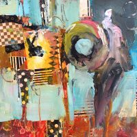 Abstract Acrylic Painting & Collage - Online Workshop