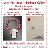 """Come Fly with me!"" Featuring Barbara Kelley, prints & oils and Ling-Yen Jones, Jewelry"