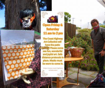 Coast Highway Art Collective patio p'ARTy July 3 & 4