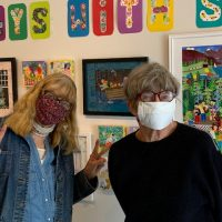 """Collage Collaborations in """"Tuesdays with Sev"""" Exhibition by Shanti Benoit and Sev Ickes."""