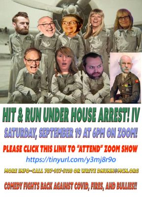 Hit & Run Theater Under House Arrest IV--Saturday, Sept 19 at 6pm