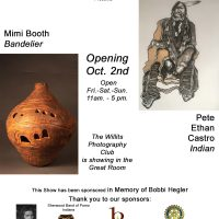 The Willits Center for the Arts presents Mimi Booth's Ceramics and P. Ethan Castro's Paintings
