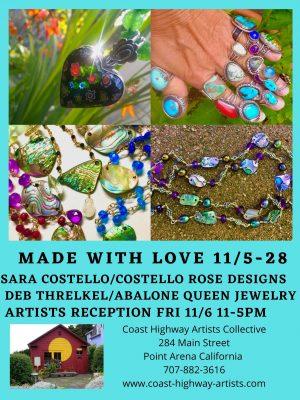 Deborah Threlkel, Abalone Queen Jewelry & Sara...