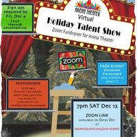 Arena Theater Holiday Talent Show via Zoom