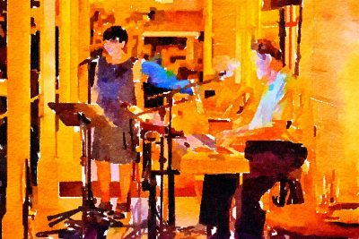 """""""Majide"""" Duo at Blue Wing Outdoor Supper Service"""