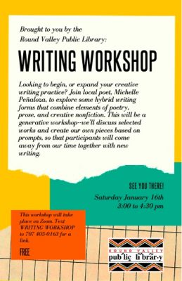 Round Valley Branch Library Online Writing Worksho...
