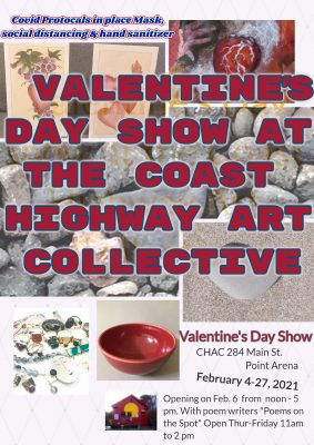 Valentine's Day show at the Coast Highway Art Coll...