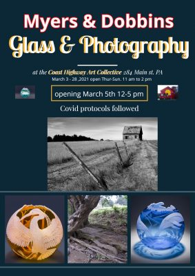 Peter Dobbins, photography & Cynthia Myers, glass artist: Views through the lens and through glass