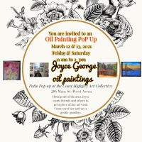Joyce George long time painter is leaving the area...