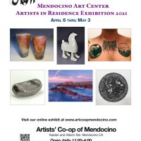 """AiR"", Mendocino Art Center Artists in Residence April Show, held at the Artists' Co-op"