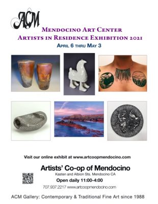 """""""AiR"""", Mendocino Art Center Artists in Residence April Show, held at the Artists' Co-op"""