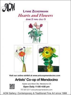 June at Artists' Co-op Heart & Flowers Lynne Zickerman Olson