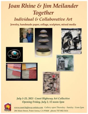 """Joan Rhine and Jim Meilander, Together : Individual and Collaborative Art,"""""""