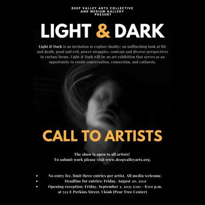 Light & Dark Call To Artists (September/Octobe...