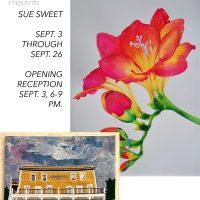 WCA: Paintings by Sue Sweet & Iconic Mendocino Buildings by Ocean Wave Quilters