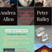 Peter Bailey, Jewelry and Andrea Allen Chinese Brush paintings inspired by nature