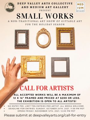 """Call for Art Entries for """"Small Works"""" Art Exh..."""
